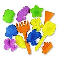 YBWZH 12PCS Bucket Beach Toys Set Beach Castle Bucket Spade Shovel Rake Water Tools Toys For Kids