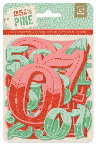 25th & Pine Jumbo Die-Cut Cardstock Numbers- -