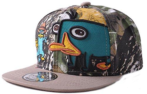 Belsen Kind Schnabeltier Karikatur Hip-Hop Cap Baseball Kappe Hut Truckers Hat, Tarnung, Erwachsene