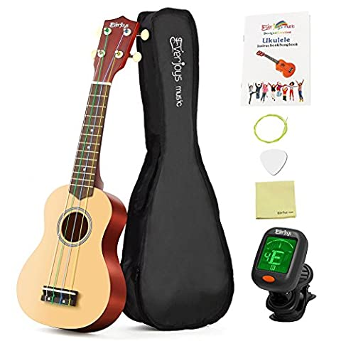 Soprano Rainbow Ukulele Beginner Kit - 21 Inch w/ Carrying bag Digital Clip on Tuner How to Play Songbook All in One Set 10000+Instagram Likes