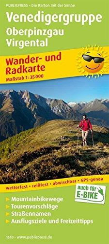 Venedigergruppe, Oberpinzgau, Virgental: Wander- und Radkarte mit Ausflugszielen & Freizeittipps, wetterfest, reißfest, abwischbar, GPS-genau. 1:35000 (Wander- und Radkarte / WuRK)