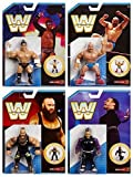 Wrestling Figure WWE Completo Serie Tutte e 4 Mattel rétro Serie 8