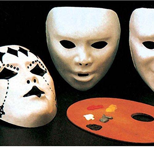 DIY Karneval Maske Faschingsmaske zum Anmalen weiß Do -