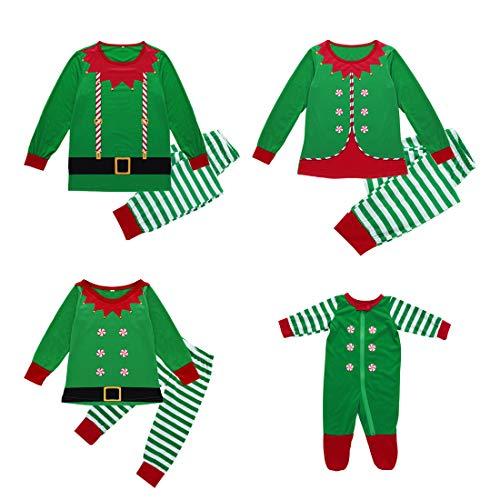 Zhhlinyuan Famille Ensembles de Pyjamas de Noël - Hommes Femmes Enfants  Bébé Matching Nightwear Manche Longue 7581f25c6