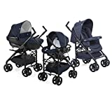 Chicco 00079366640000 Trio Sprint Passeggino con Kit Auto, Blue Passion
