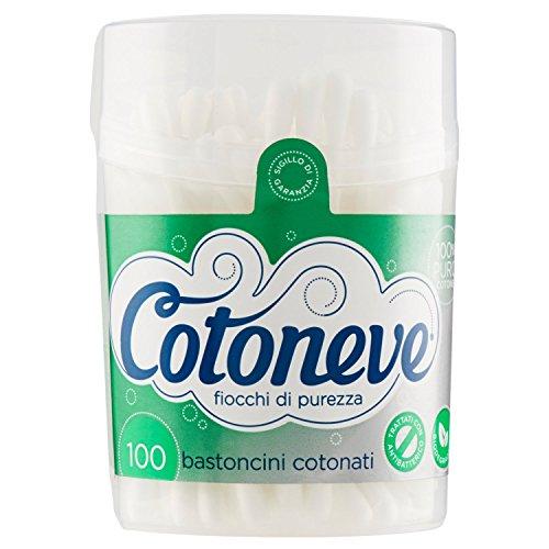 Cotoneve Coton traité avec un antibactérien, 100 bâtonnets
