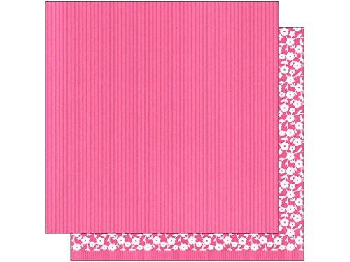 American Crafts amc36829630,5x 30,5cm Basics Streifen rosa AMC Papier Karte Lager