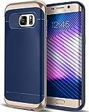 Caseology Galaxy S7 Edge Hülle, [Wavelength Serie] Schlanke Dopellagige Schutzhülle mit Textur Sicherer Griff [Navy Blau - Navy Blue] für Samsung Galaxy S7 Edge (2016)