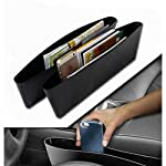 Seat pocket catcher designed to catch items before they drop. Stop distractions, create storage, and keep items within easy reach. Installs in seconds: simply slide car seat catcher between the seat and console. Its flexible, one-size-fits-most desig...