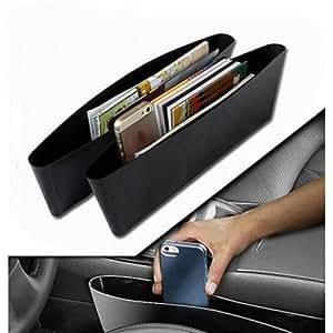 Autofier Car Seat Catcher (Set of 2, Black)//Car Organizer//Catch Caddy for Hyundai Creta