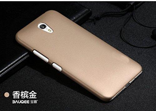 Nkarta (TM) Matte Rubberised Hard Case Back Cover For Lenovo ZUK Z1 - Golden
