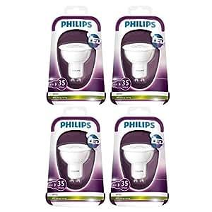 PHILIPS Capsule, 4 Ampoules LED 35W GU10 230V 36D