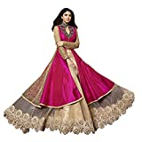 #6: Jay Varudi Creation Women Silk Dress(Women's Clothing Dress for women latest designer wear Dress collection in latest Dress beautiful bollywood Dress for women party wear offer designer Dress)(Pink_Karma Pink 02_Free Size)
