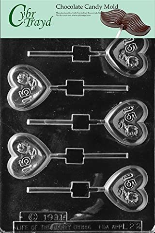 Cybrtrayd L022 Letters and Numbers Chocolate Candy Mold, No.15 Rose Heart by CybrTrayd