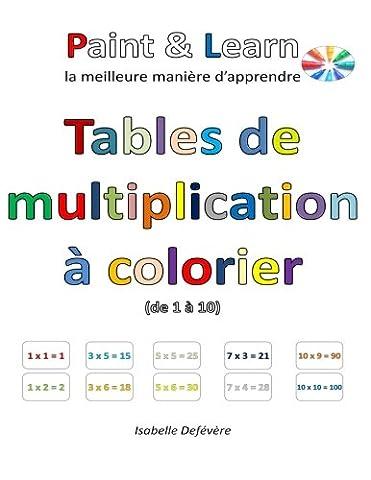 Tables de multiplication à colorier (de 1 à 10)