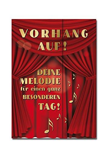 """bentino XXL Glückwuschkarte mit Musik\""""Konzert\""""   Geburtstagskarte mit Sound   Geburtstagskarte mit Umschlag A4   Interaktive Klappkarte mit klassischer Musik  Karte mit Super-Bass-Lautsprecher"""