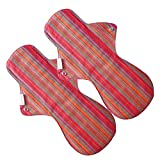 #3: Eco Femme - Vibrant Range - Night Pad - Pack Of 2 - Reusable Sanitary Pads/Cloth Menstrual Pads/Washable Cloth Pads/GOTS Certified
