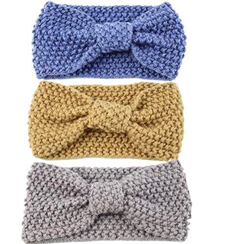 3 piezas mujer Headwrap Elástico Banda Cabello Stretchy