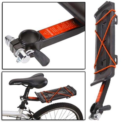 Amos Universal Fahrrad hinten Sitz Post Gepäck Rucksack Tasche Gepäckträger Carrier Halter Halterung Mountain Bike BMX MTB ATB Road Bike (Sitz Post Tasche)