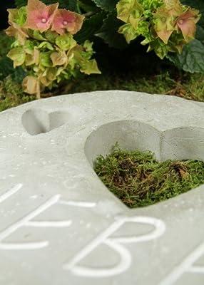 """Grabtafel mit Herzen """"Liebe"""" von friedhofskerze.de bei Du und dein Garten"""
