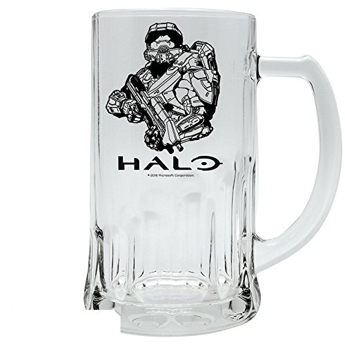 Halo - Glas Bierkrug - Master Chief - 500 ml (Cortana Kostüm)