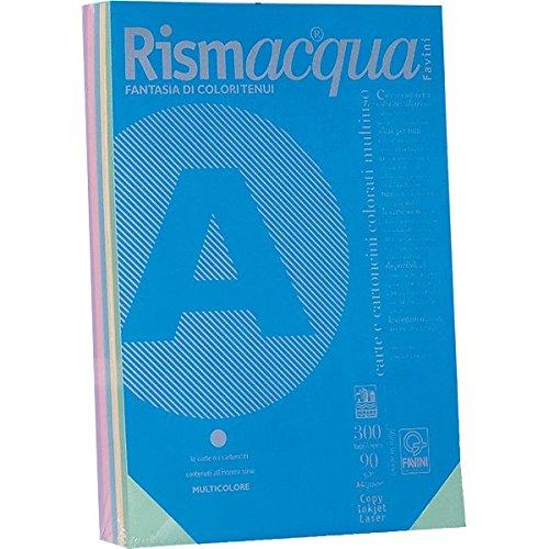 Favini A69X524 Rismacquaa4 Cartoncino, 200 g/Mq, Assortiti 5 Colori