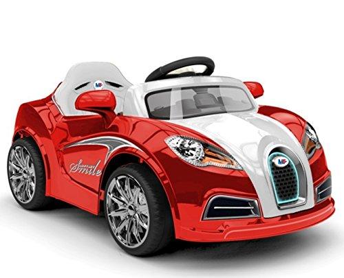 Mondial Toys AUTO ELETTRICA PER BAMBINI 12V MACCHINA CON TELECOMANDO LUCI A LED MP3 ROSSO E BIANCO