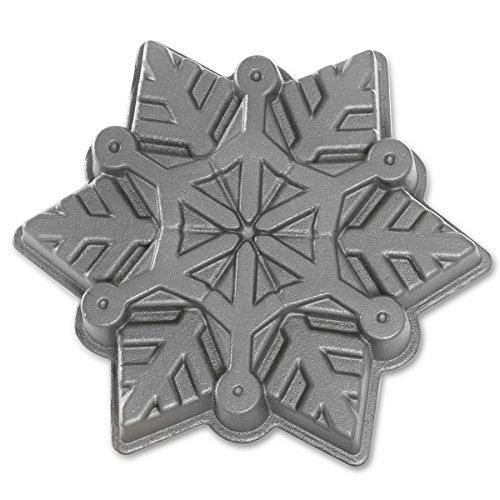 Nordic Ware NW88248 - Backform - Kuchenform - Schneeflocke - Aluminiumguss Original Bundt Pan