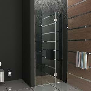 rahmenlose nischent r trennwand duschwand duschabtrennung echtglas 80x200 cm dusche komplett. Black Bedroom Furniture Sets. Home Design Ideas