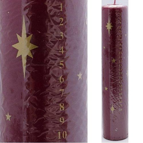 SEBNINI 10 Piezas Cera Estrella de Navidad Advent diseño de Vela, Color