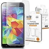 Orzly® - GALAXY S5 Premium Pellicola Protettiva VETRO TEMPERATO 0,3mm - Protezione dello Schermo / Robusta Sottile Pellicola Protettiva per Display - Progettato Esclusivamente per SAMSUNG GALAXY S5 SmartPhone / Telefono Cellulare / Phablet 2014