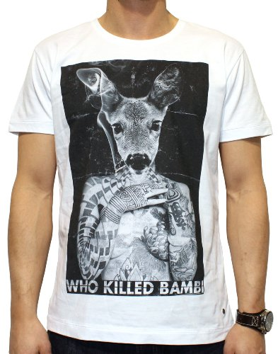 40by1, Herren T-Shirt, Who killed Bambi, Street Couture, white, 40/1-14-002, GR XL