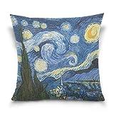ALAZA Sternennacht Van Gogh Ölgemälde Platz Werfen Kopfkissenbezug Cotton Velvet Kissenbezug