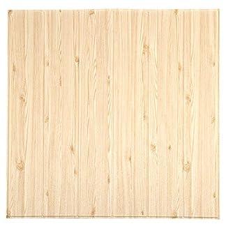 LZYMLG Calcomanías de pared de madera 3D Sala de espuma impermeable Sala Dormitorio DIY Adhesivo Papel tapiz Arte Inicio Tatuajes de pared Blanco puro A