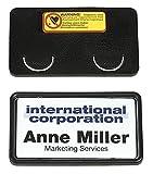Durable 812901 Namensschild Clip-Card mit Magnet, 40 x 75 mm, schwarz, Packung à 25 Stück