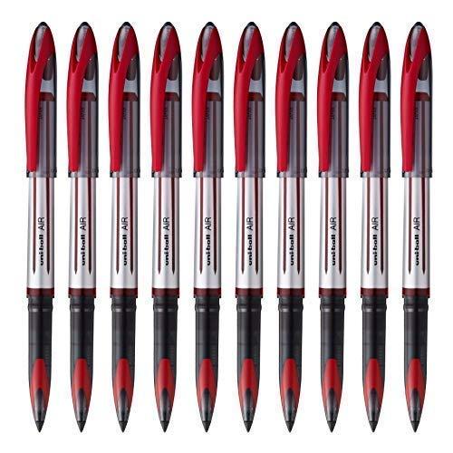 10x UNI-BALL AIR UBA 188L 0.7mm Penna a sfera 3 colori con Mix & Match opzione DISPONIBILI - Rosso