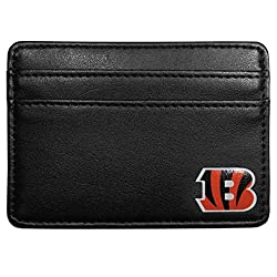NFL Cincinnati Bengals Leather Weekend Wallet, Black