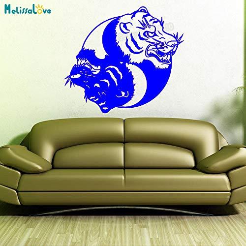 Nuevo diseño Mandala Tiger Etiqueta de la Pared decoración para el hogar para Sala de Estar Yin Yang Vinilo Floral Yoga calcomanía Arte Mural decoración Y WW-3 63x56cm