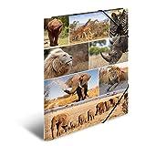 Herma 19222 Sammelmappe DIN A3 Karton, Motiv Afrika, Serie Tiere, Eckspanner, 1 Zeichenmappe, auch für Kinder