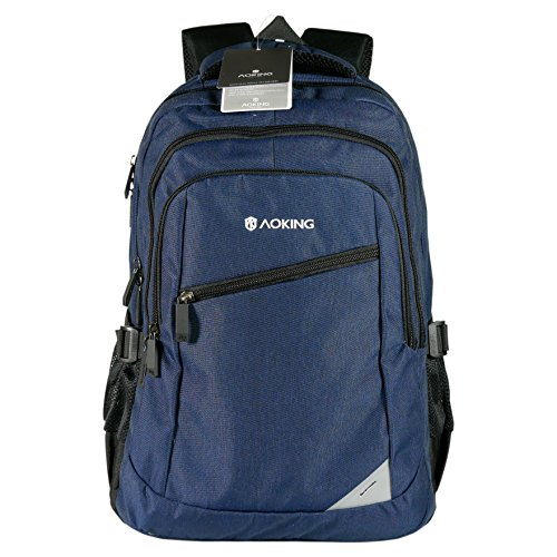 Rucksack Aoking Backpack Freizeit Sport Reise Outdoor, 5 Fächer, 46 cm, blau