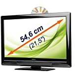 MEDION MD 21016 54,6cm / 21,5 FULL HD LED TV mit integriertem DVD-Player & DVB-T Tuner USB MKB Xvid MP4