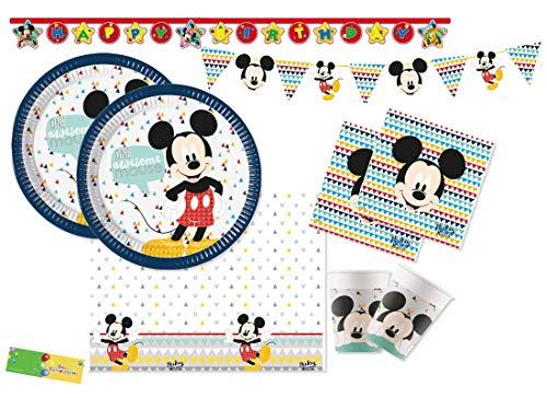 DECORATA PARTY Kit n 17 Topolino Awesome Mickey Mouse Addobbi Festa Compleanno Bambini