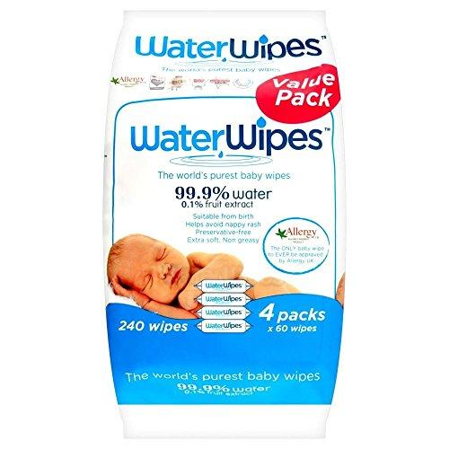 Preisvergleich Produktbild WaterWipes Lingettes bébé Pure (60 par paquet x 4) - Paquet de 6
