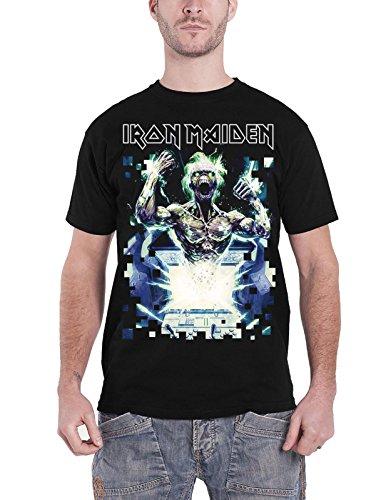 Iron Maiden T Shirt Speed Of Light Eddie band logo Nue offiziell Herren Schwarz -