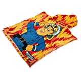 Fireman Sam / Feuerwehrmann Sam Kaputzenhandtuch Poncho Handtuch - Offiziell lizensierter Fireman Sam Fanartikel.