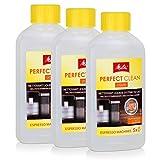 3x Melitta 202034 Perfect Clean Espresso Machines Milchsystem Reiniger 250ml