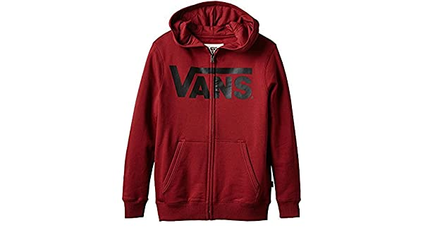 e8ba20e101 Vans Boy s Classic Zip Hoodie- Redrum Black  Amazon.co.uk  Clothing