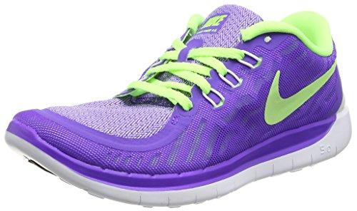 Nike Free 5.0 (Gs) Scarpe da corsa, Bambine e ragazze, Multicolore (Hypr Grape/Ghst Grn-Mtllc Slvr), 37 1/2 Multicolore (Hypr Grape/Ghst Grn-Mtllc Slvr)