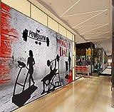Rureng Papier Peint Photo Personnalisé Gym Levage Tapis De Course Culturisme Outillage Fond Papier Peint Personnalisé Peintures Murales Haute Définition-400X280Cm