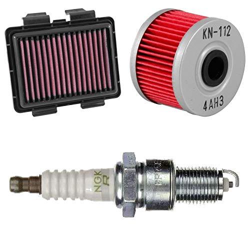 Preisvergleich Produktbild Luftfilter Ölfilter Zündkerze CRF 250 M 14-16 KN NGK Service Wartung